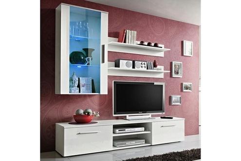 Meuble tv suspendu avec colonne