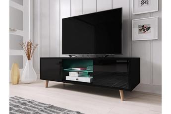 Meuble tv 43 cm finition laqué topic coloris blanc