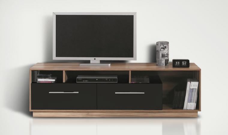 Meuble tv et table basse noir