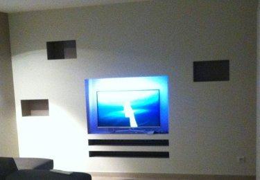 Meuble pour tv encastree