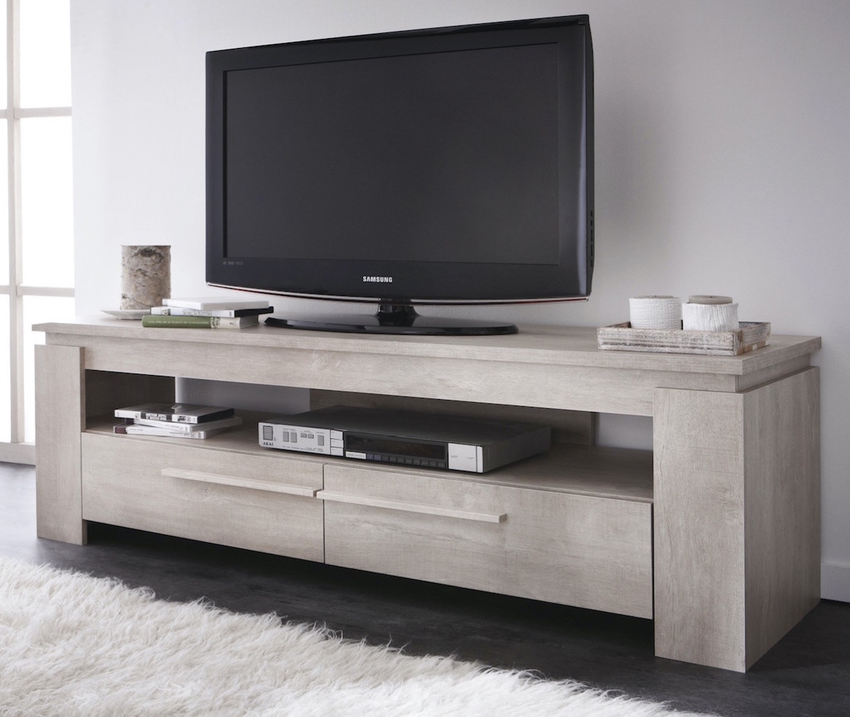 Cablage meuble tv