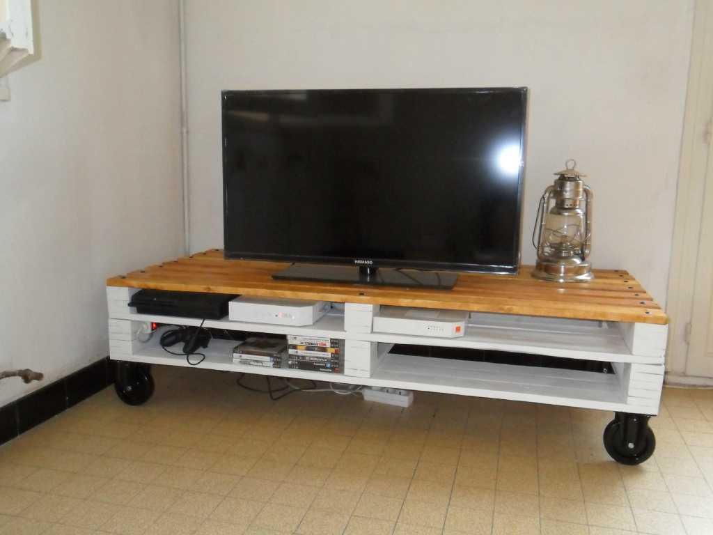 Meuble tv design en palette