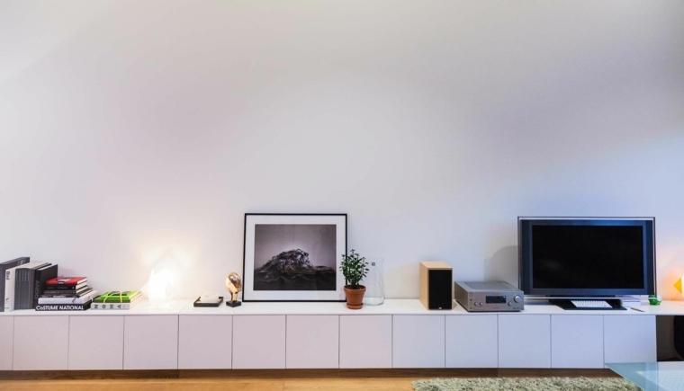 Meuble tv noir 160cm