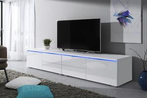 Meuble tv blanc 200cm