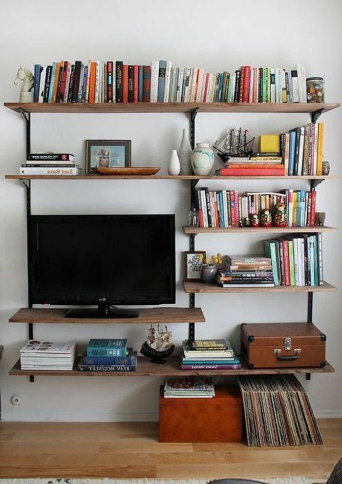Meuble tv avec briques