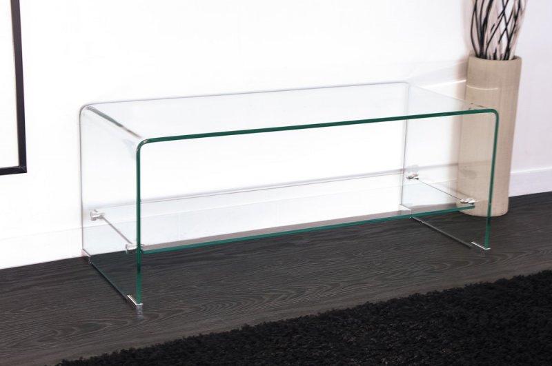 Meuble tv transparent conforama